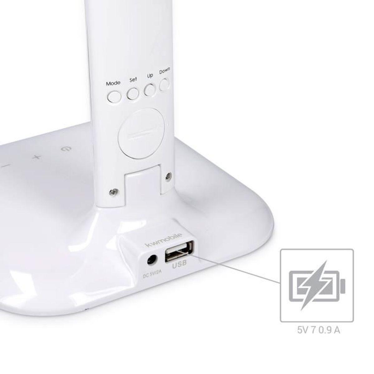 Éclairage En Blanc Kwmobile Led Écran Lcd Flexible Lampe De Table iPkZuTOX