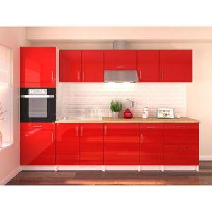 CUISINE COMPLÈTE OBI Cuisine complète L 300 cm avec colonne - Rouge