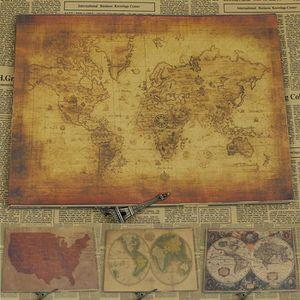 Poster carte du monde vintage   Achat / Vente pas cher
