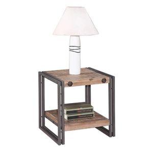 TABLE D'APPOINT Table d'appoint / bout de canapé design industriel