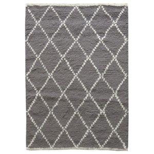 TAPIS Tapis style berbère en laine blanche et grise Masa