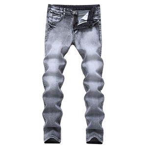 JEANS Jeans Homme Slim Fit Stretch Gris Pantalon Denim F