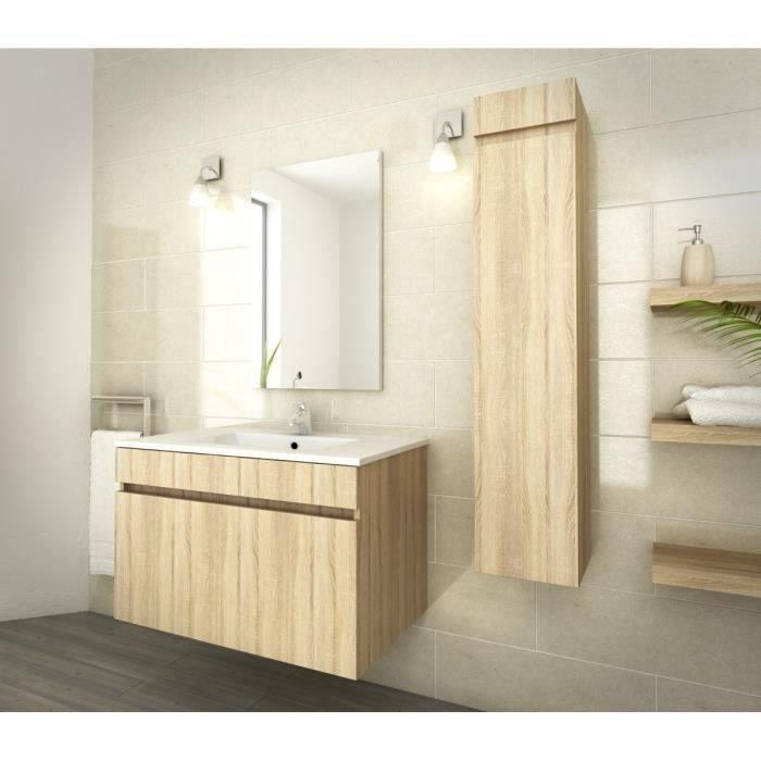 Luna ensemble salle de bain simple vasque l 80 cm d cor for Vasque salle de bain 80 cm