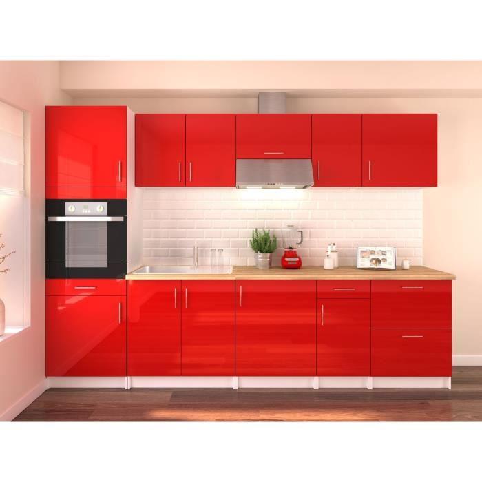 Cuisine Rouge Brillant cuisine rouge brillant complete - achat / vente pas cher