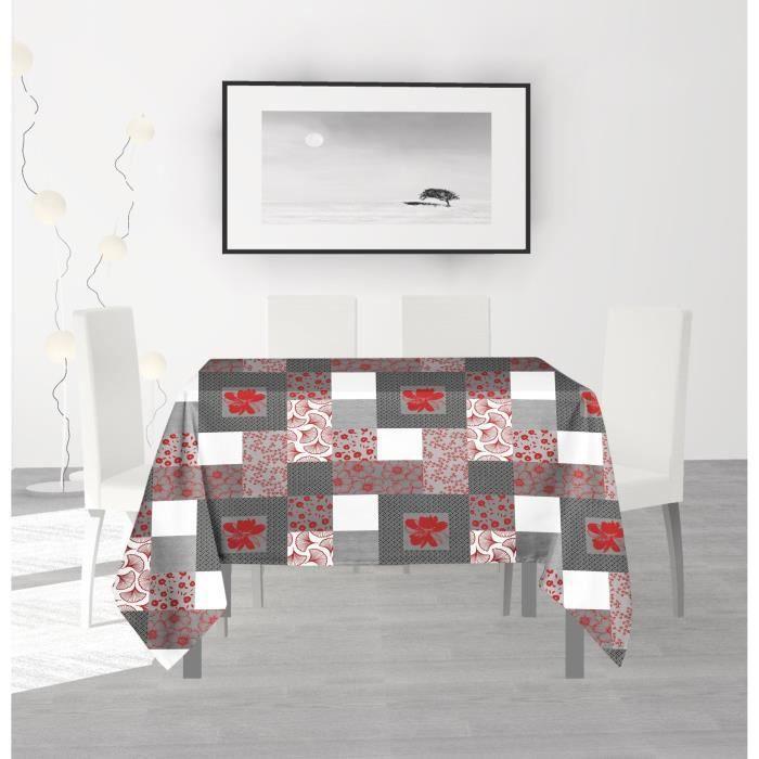 SOLEIL D'OCRE Nappe anti-tâches carrée Fidji - 180 x 180 cm