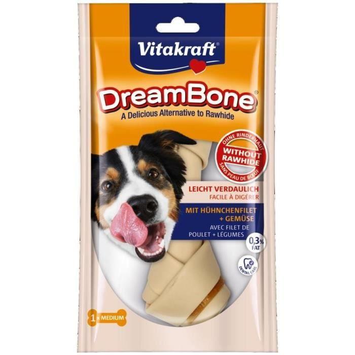 VITAKRAFT Os à mâcher DreamBone au poulet M - Pour chien