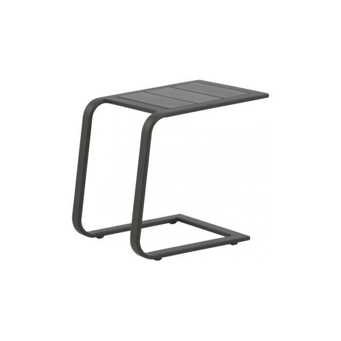 TABLE BASSE JARDIN  Tablette d'appoint aluminium gris
