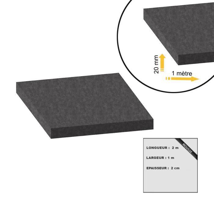 20mm Mousse De 2x1m Achat Épaisseur Noire Ppi Filtration 10 O0rvOB