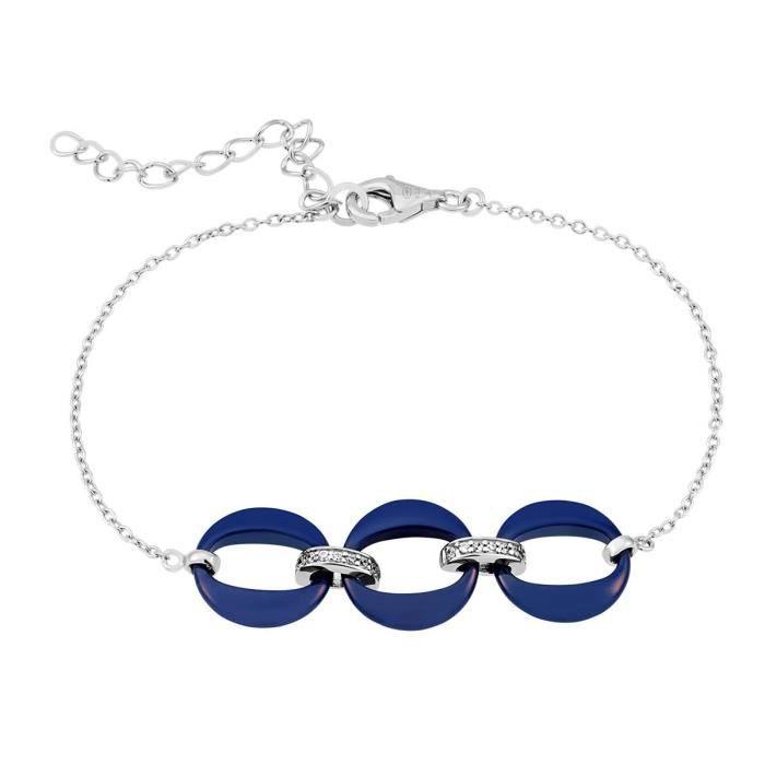 Bracelet BLEUE JOAILLERIE Argent 925-1000 Céramique - Z0148253