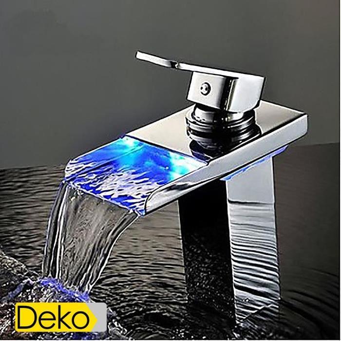 ideko robinet mitigeur lavabo led salle de bains robinet. Black Bedroom Furniture Sets. Home Design Ideas
