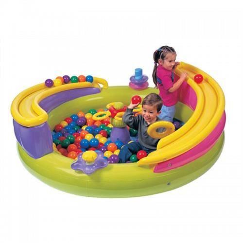 Piscine a balles roller intex achat vente piscine for Piscine a balle jouet club