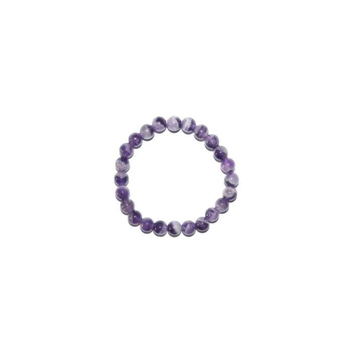 Bracelet en Améthyste bended boules 8mm
