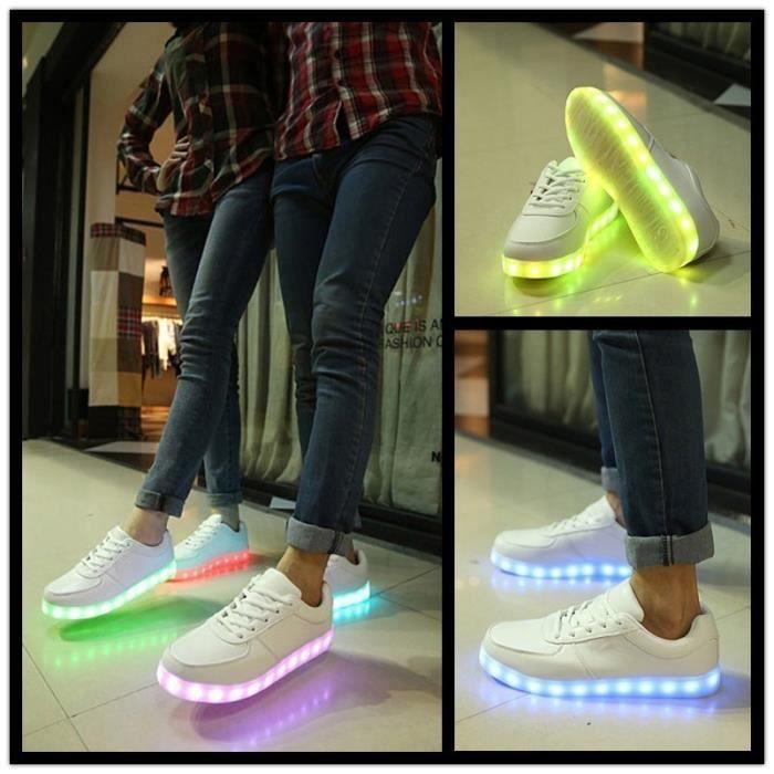 Vente chaude lumineuses chaussures de sport uni...