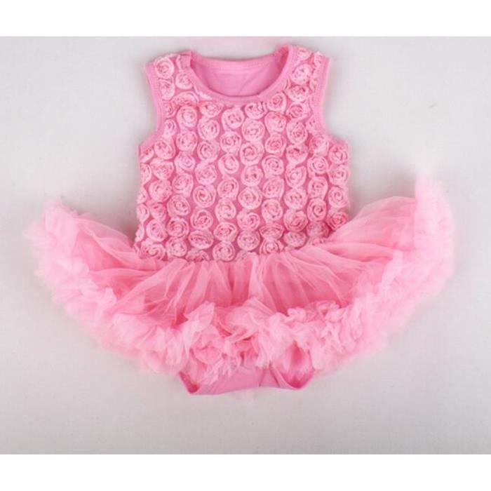 Pour bébés filles et corps explosif gilet robe rose sans manches