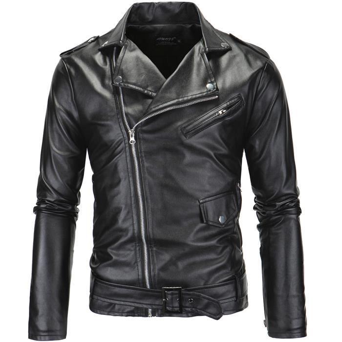 Blouson veste cuir moto homme