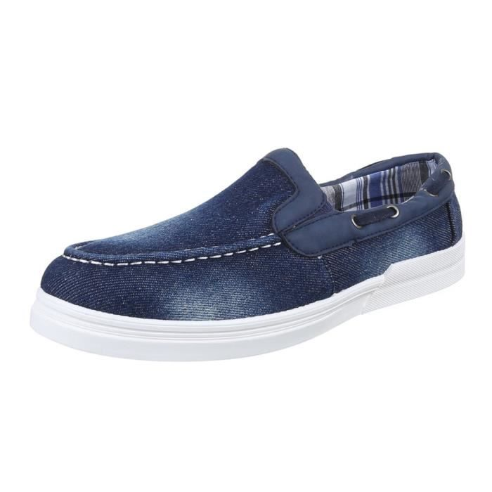 homme chaussures flâneurs loisirs chaussures Slipper Used optique bleu 44