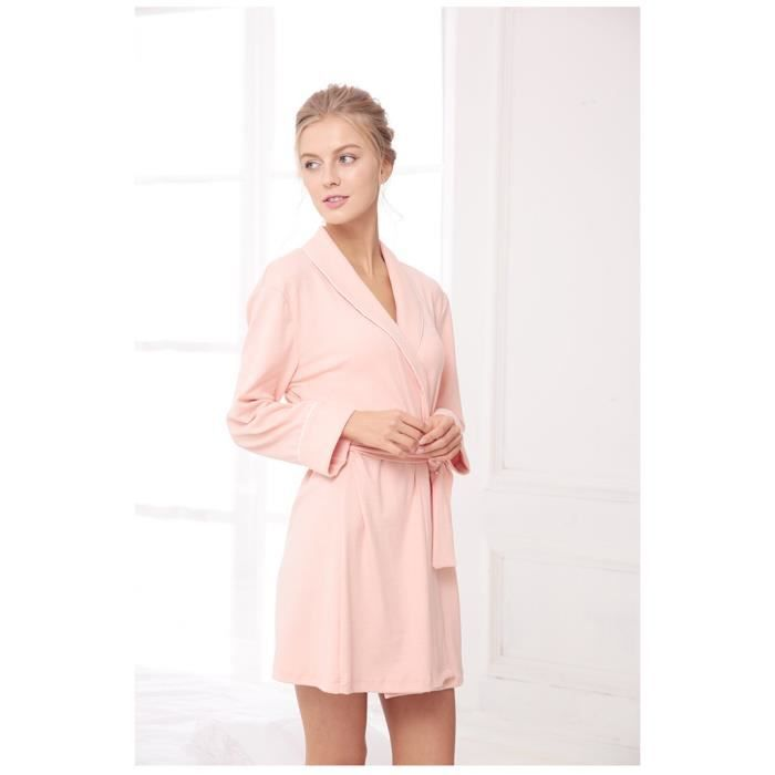 7285be7d97 Femme Pyjama peignoir nouveau tricot chemise de nuit en coton à ...
