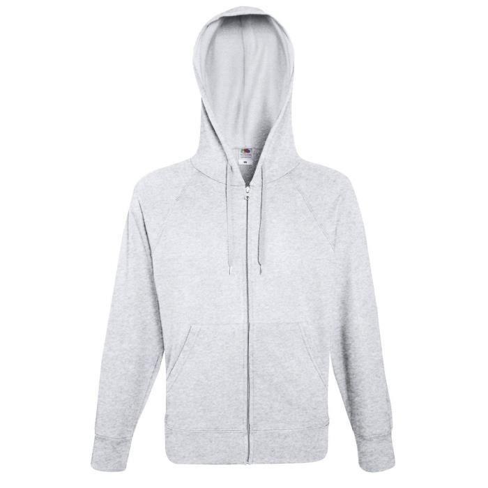 magasiner pour le meilleur pas cher gamme complète d'articles Lot de 2 Sweat Coton Homme Zip et Capuche Taille Homme - XL, Couleur - gris