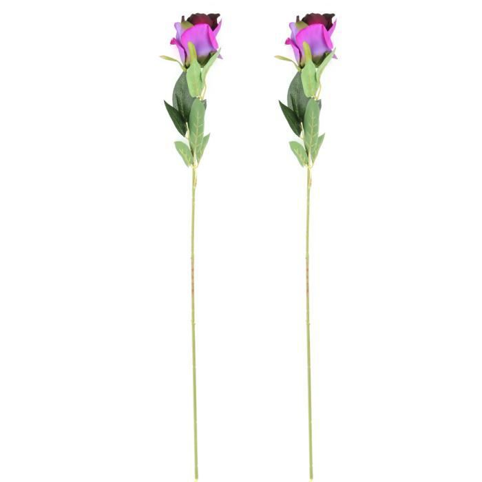Jardin Salon Table en plastique rose fleur artificielle Décoration  bricolage 2 pcs a17041800ux1175