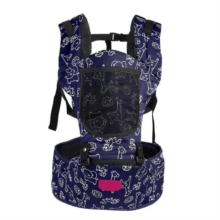 Ajustable Porte-bébé Multifonctionnel sac à dos ergonomique respirable de  transporteur pour bébé (Bleu) cc24b6ee314