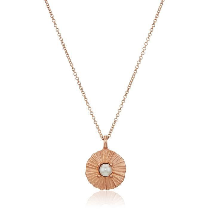 Dogeared Amazing Mom, Radiant Glass Pearl Disc Chain Necklace, 16+2 Extender HNZET