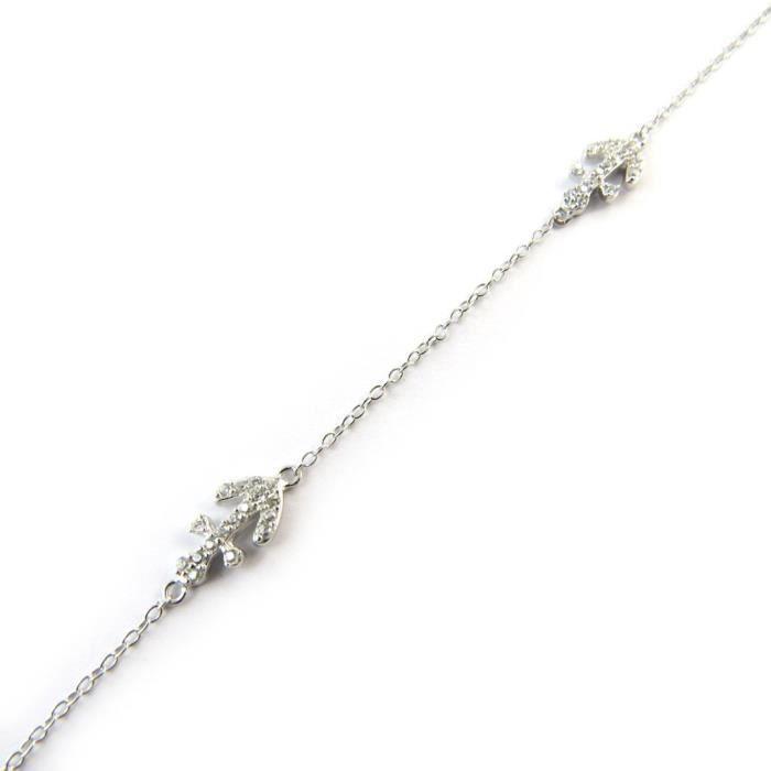 Les Trésors De Lily [N3402] - Bracelet Argent Ancre Marine