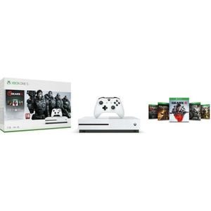 CONSOLE XBOX ONE Xbox One S 1 To + 5 jeux Gears of War + 1 mois d'e