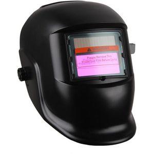 MASQUE - LUNETTE Masque de Soudure Noir Obscur-variable avec Filtre