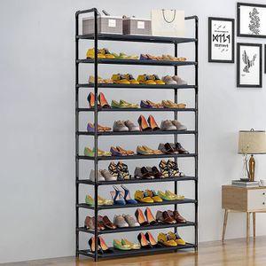 MEUBLE À CHAUSSURES Étagère à Chaussures avec 10 Niveaux de Rangement