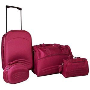 PACK ACCESSOIRES BAGAGE Set de bagage 4 pièces Violet