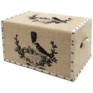 Malle de rangement bois - Achat / Vente pas cher