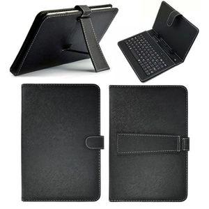 CLAVIER POUR TABLETTE CPROPRO Couverture Housse en cuir noir PU + PC + C