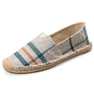Sneaker Fashion Casual Mocassins Slip-on Chaussures en toile Espadrille Flat F2THR Taille-37 F23EYQB