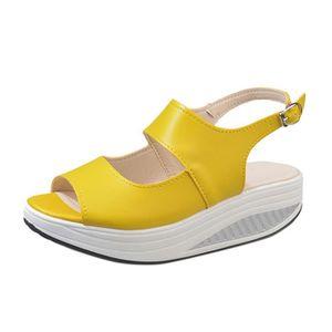 La lettre des femmes Soft Lace-Up décontracté chaussures plates pois antidérapant chaussures extérieures Jaune XKO564 q0M1UNMT