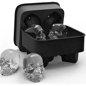 BAC - SAC A GLACONS Panlom® 3D Tête de Mort Moule Bac en Silicone pour