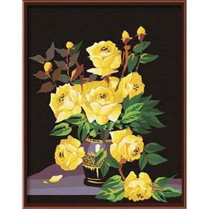 PEINTURE AU NUMÉRO YEESAM ART Peinture par numéros Kits Sans Cadre 16
