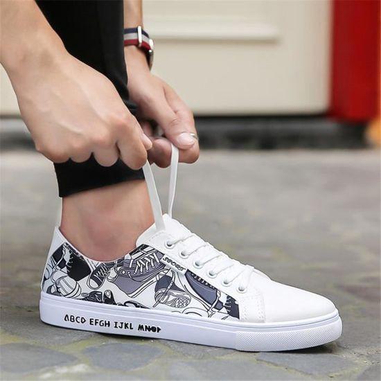 44 Extravagant Sneaker Série Léger 39 Poids Printemps Automne Personnalité  Sneakers Chaussure Comics Homme Et Respirant 1210fb17918