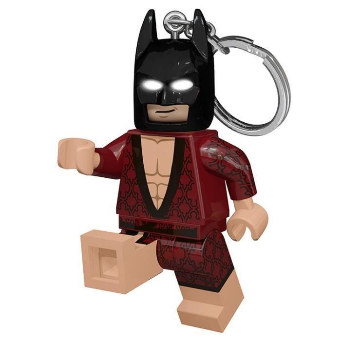 LEGO Batman Movie Porte-clés Batman kimono - Visage lumineux - Lumière LED blanc - Tête mobile - 9,53 X 4,06 X 14,92 cm