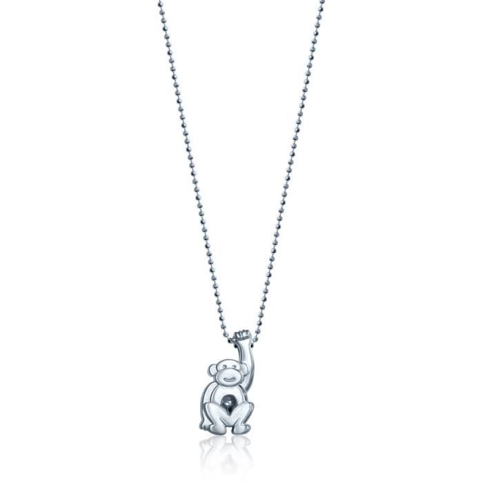 Alex Woo Les petits signes » 925 Singe pendentif en argent sterling Collier, 40 cm (16 pouces) 1Z8P0R