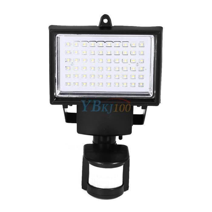 60 Led Projecteur Solair Lampe de Jardin Pir Détecteur de Mouvement Rotatif  180 °Mural Lumière de Sécurité - LRFXRN-C2909 D07AF0