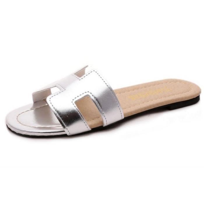 3928ffd9f9f Sandale femme pantoufles d été sandales plates femme Nouvelle mode ...
