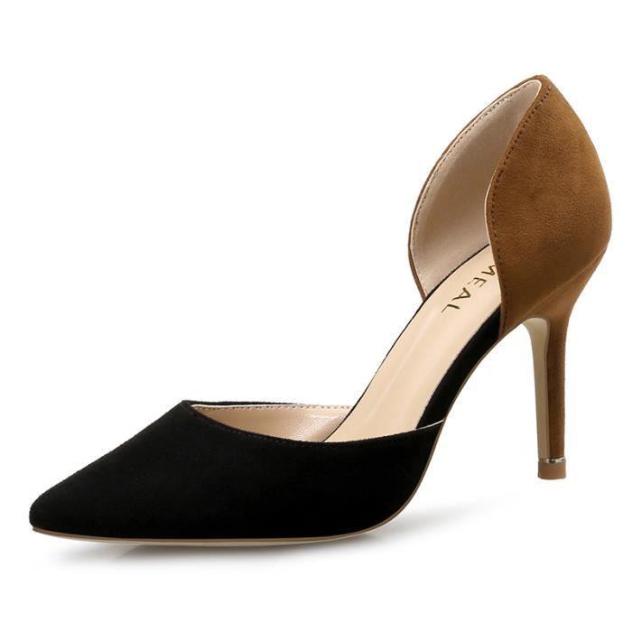 2018 printemps et en été de nouvelles chaussures de travail creux talons hauts féminins bien avec