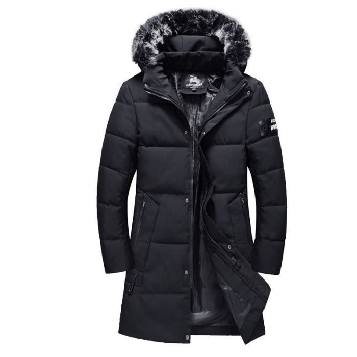 Doudoune homme en coton chaud laine Manteau matelassé Section moyenne et  longue de Marque pour homme 4f94e5131f6