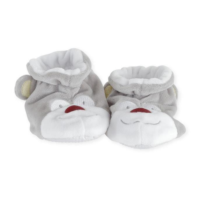 en soldes 3c625 03602 Chaussons bébé Mixte TROIS KILOS SEPT - 0-6 mois Gris Praline et Caramel