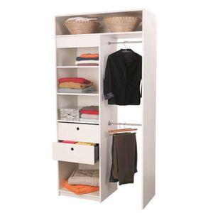 kit amenagement placard achat vente kit amenagement placard pas cher cdiscount. Black Bedroom Furniture Sets. Home Design Ideas