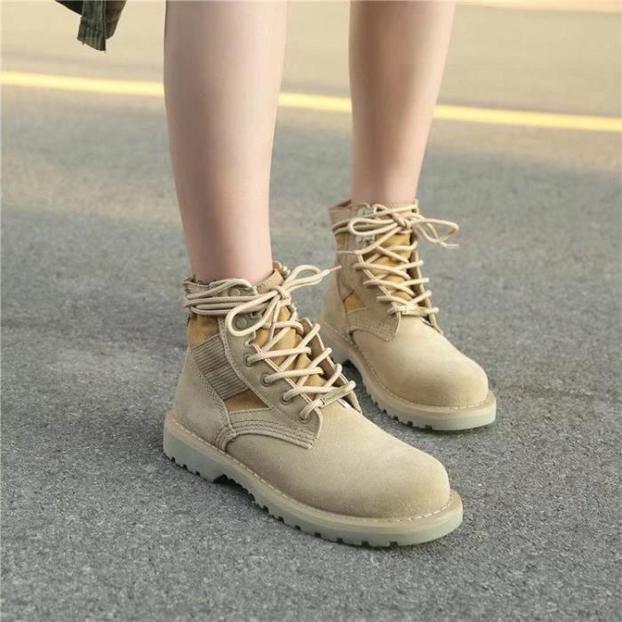 Bottes montantes Style britannique Bottes d'hiver fille garçon Bottes antidérapantes chaudes pour enfants Gs8ZWM8