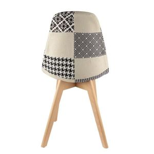 Chaise patchwork achat vente chaise patchwork pas cher for Chaise scandinave patchwork bleu