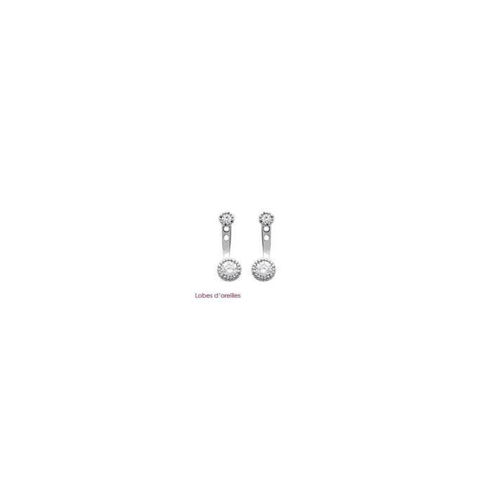 Isady - Stefania - Boucles doreilles - Argent Sterling 925 Rhodié - Pendantes - Oxyde de zirconium