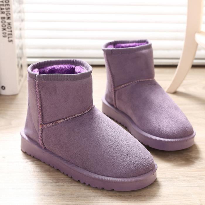 Neige Chaussures Ladies Chaudes Home Violet Femmes q7RUTT