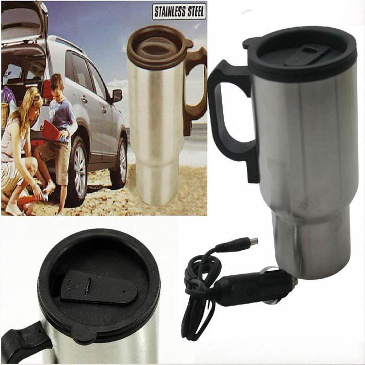 Bouilloire Isotherme destiné mug inox electrique 12 volts camping voiture bouilloire tasse 12